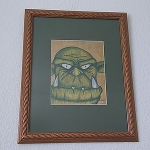 Framed Print of an Orc Portrait